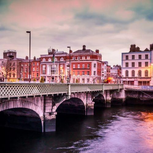 Grattan Bridge over the River Liffey in Dublin Ireland