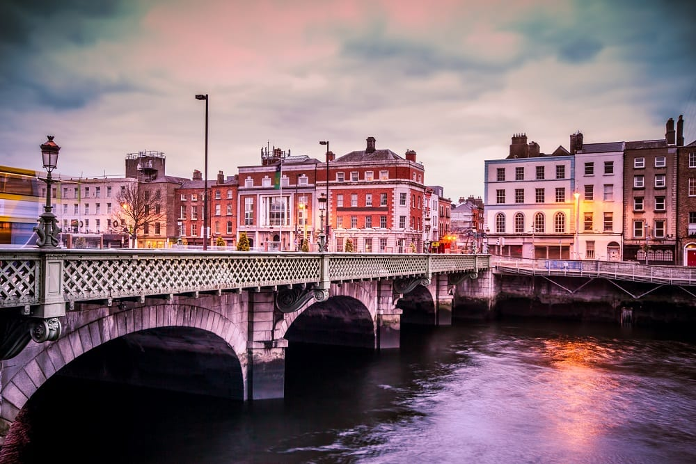 Grattan Bridge over the River Liffey in Dublin Ireland