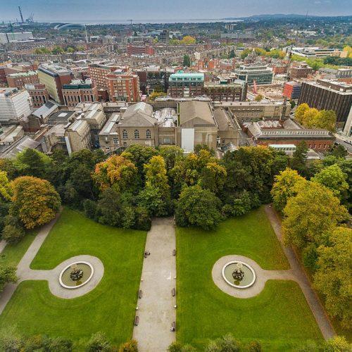 Iveagh Gardens aerial