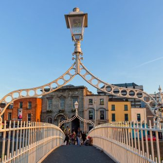 The Ha'Penny Bridge Dublin City