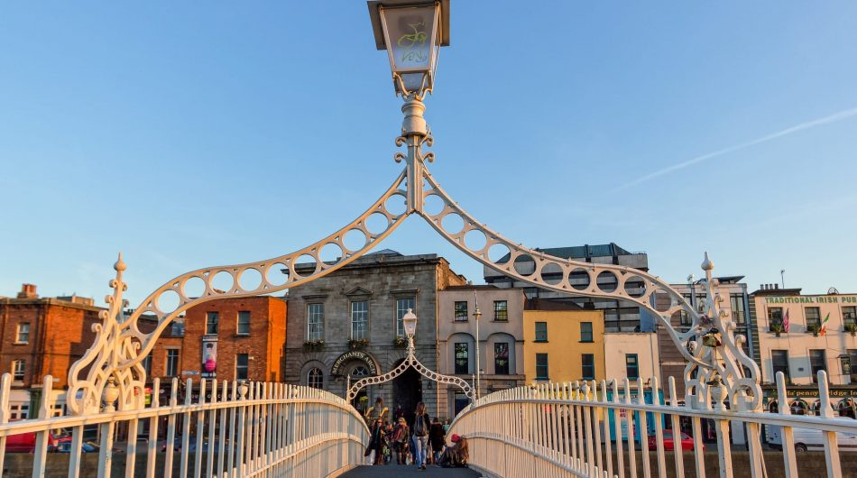 The Ha'Penny Bridge Dublin City