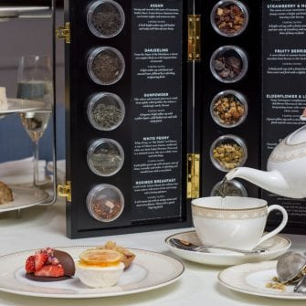 Tea selection at The Davenport hotel